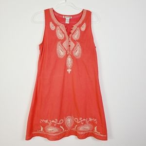 CUTE OPTIONS SLEEVELESS EMBROIDERED DRESS